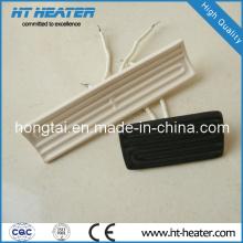 Calentador de cerámica de tipo curvo de color blanco de 245 * 60 mm