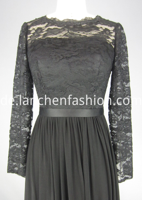 evening dress long sleeve