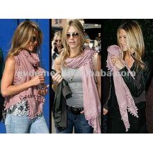 Fashion wholesale lady pom pom foulard
