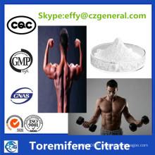 99% Pureté Anostrogène Stéroïde Hormones Poudre Toremifene Citrate