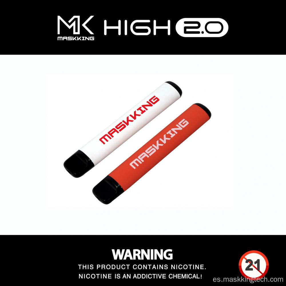Vainas desechables al por mayor de Maskking High 2.0 con sabores
