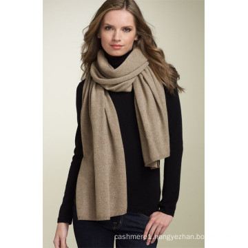 luxury plain knitted 100% pure real cashmere scarf