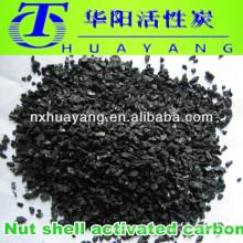 Carvão activado em carcaça granular com 2 a 4 mm para filtração de água potável