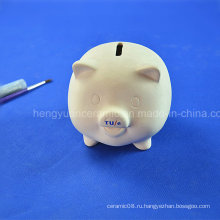 DIY детская игрушка из неокрашенной дешевой керамической банкноты для копилки