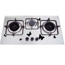 Réchaud à gaz bon marché de l'acier inoxydable 3 de brûleur du prix 201, cuiseur à gaz