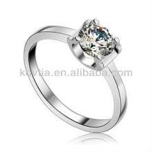 925 bijoux argentés cz anneaux anneau de fiançailles en argent sterling 925 pour femme