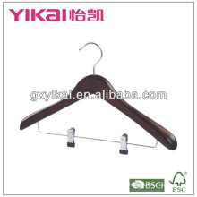 Деревянная вешалка с металлическим зажимом 2PCS