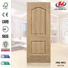JHK-M01 Two Panels Rare Style Red Oak Veneer Door Skin