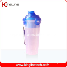 500ml Plastic Protein Shaker Bottle with Filter and Lanyard (KL-7402)
