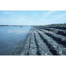 Cage de protection de la rivière de roche galvanisé hexagonal galvanisé boîte de maille de gabion