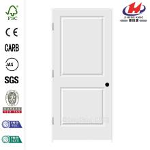 36 polegadas x 80 polegadas C2020 Primed 2-Panel Solid Core Premium Composto Single Prehung Porta Interior