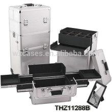 casos de trole cosmética profissional podem ser divididos em 2 partes, cosméticos caixa e caixa cosmética do trole