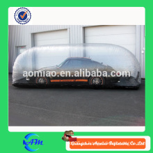 Cubierta inflable transparente del coche, tienda de la burbuja / cubierta inflable del coche / cubierta del coche inflable