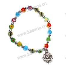 Мода Красочный Сердце Gemstone Религиозный браслет