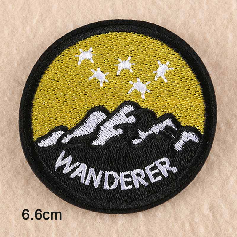 Hiking Embroidery Patch
