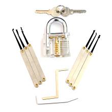 Прозрачный практика замок с 8шт инструменты Взлом (комбо 8-Б)
