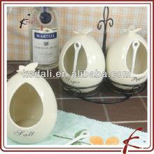 Jarras de almacenamiento de especias de cerámica con soporte