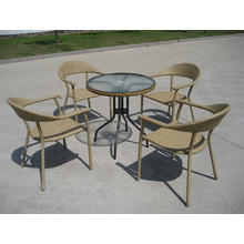 Stack klassischen Rattan Outdoor Dining Furniture