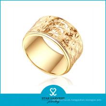 El oro de Dubai plateó el anillo de los hombres para la boda (SH-0438R)