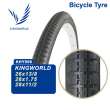 28X1-1/2 Black Bicycle Tire with Red Line