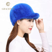 Daily used mink fur hats for sale russian style