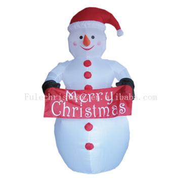 Открытый надувной снеговик для новогоднего украшения