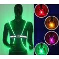 Высокая видимость Флуоресцентный светодиодный жилет Светоотражающий жилет