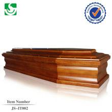 caixão de estilo europeu madeira sólida de boa qualidade fabricado na China