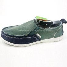 Обувь горячая Распродажа Мужская мода скольжения на вождения обувь холст обувь