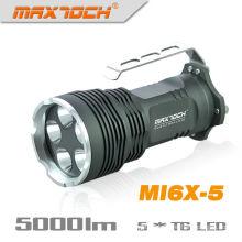 Maxtoch-MI6X-5 XML-T6 5000 Lumen 5 * Cree LED Taschenlampe zu behandeln
