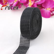 Recorte de plástico decorativo negro, 24 bandas de plástico de líneas