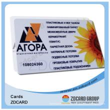 Cartão inteligente de PVC sem contato de plástico