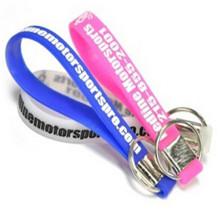 Elastómero eco-friendly bracelete de silicone titular da chave