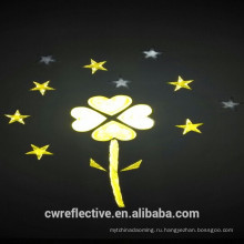 Зарево в темной безопасности, люминесцентные светоотражающие наклейки для украшения Материал