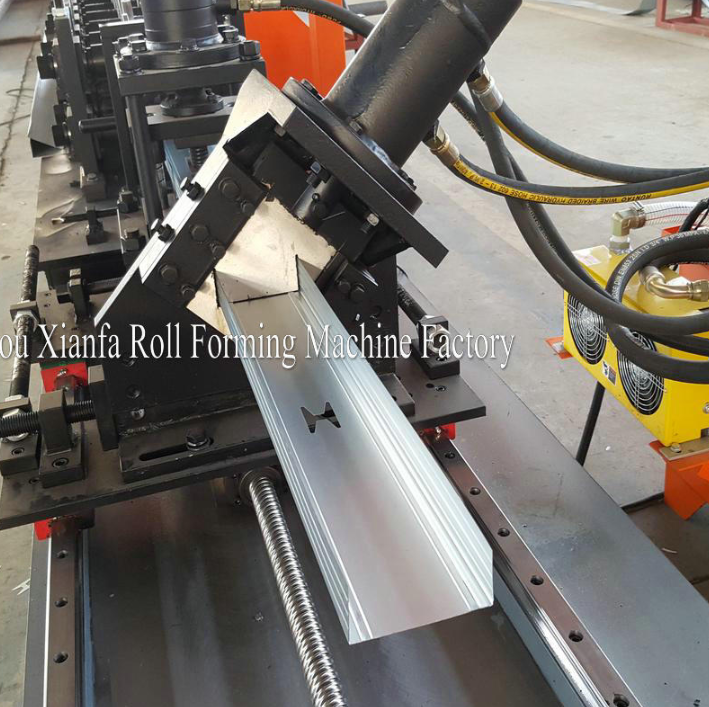 stud roll forming machine with punching
