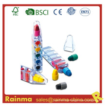 6 Color Crayon Pen for Promotional Gift