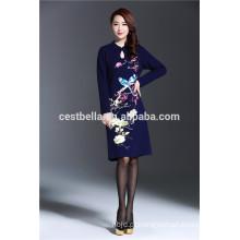 Custom service wholesale women de alta qualidade outono elegante vestido para damas nobres