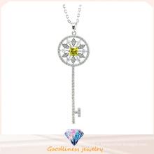 Conception de motif clé pour collier de femme 925 bijoux en argenterie (N6660)