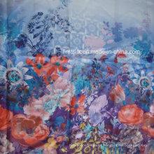 Mulberry seda cruda de tela impresa digital de gasa