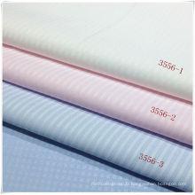 Tissu en coton polyester pour chemise en stock