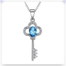 Prata jóias colar de cristal 925 prata esterlina jóias (nc0228)