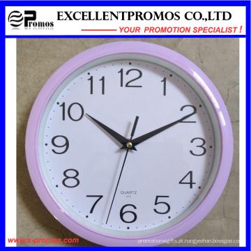 Logo impressão rodada plástico relógio de parede (item1)