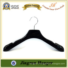 Alibaba China Supplier Black Plastic Hanger With Round Metal Hook