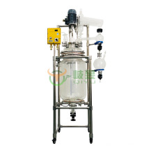 100 Liter Chemical Glass Double Layer Glass Reactor For Sale