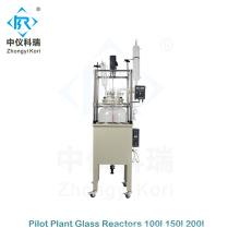 Reactor de vidrio químico de planta piloto