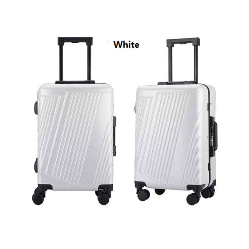 White pc luggage