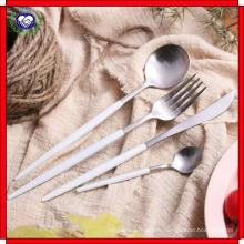 18 à 10 Couteau Sharp et fourchette cuillère poignée en or noir L vaisselle en acier inoxydable Couteau et fourchette Western haute qualité