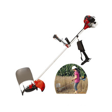 Four-stroke side-mounted household mini rice paddy cutting machine