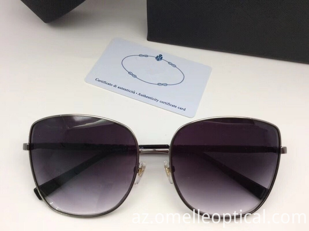 Oval Sunglasses Metal