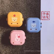оптом японский квадрат напечатан пластиковый bento дети ланч-бокс